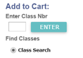 Search for classes using the Course Number entry on the form in LionPATH